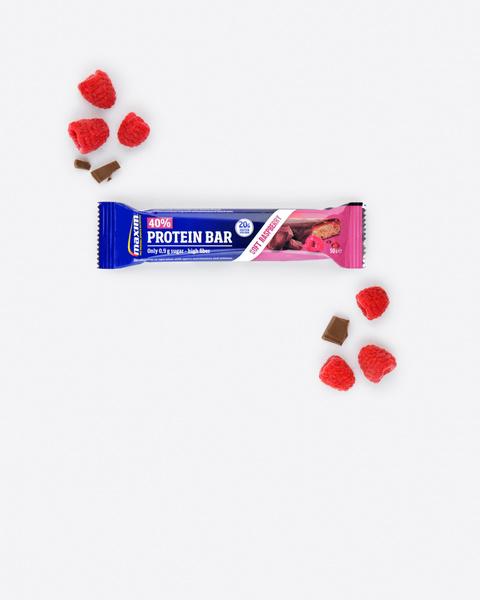 40% Bringebær Proteinbar 50g