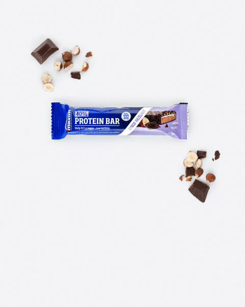 40% Hasselnøtt Vanilje Proteinbar 50g