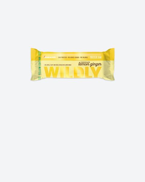 Wildly Sitron og Ingefær Proteinbar 55g (12-pakk)