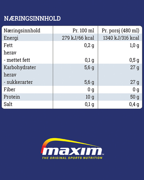 Protein Boost Vanilje 480ml