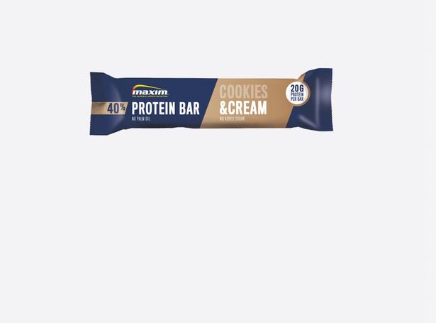 - 40% Cookies og Cream Proteinbar 50g (12-pakk)