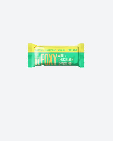 NYHET! LiL' Foxy Hvit sjokolade og sitronterte Proteinbar 40g
