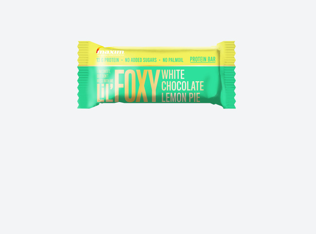 LiL' Foxy Hvit sjokolade og sitronterte Proteinbar 40g (4-pakk)