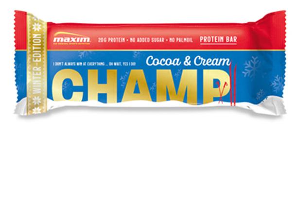 NYHET! Champ Kakao og Krem Proteinbar 55g (12-pakk)