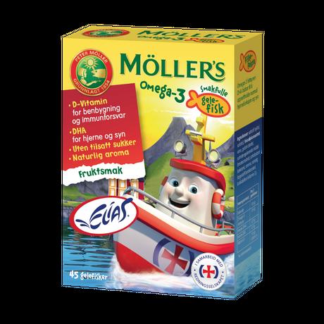 Möller's Omega-3 gelefisker med fruktsmak