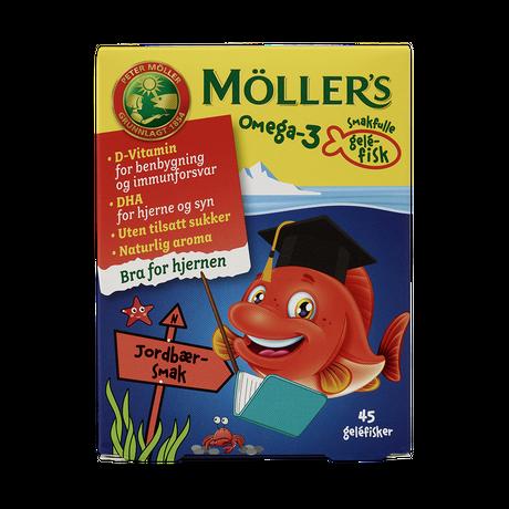 Möller's Omega-3 gelefisker med jordbærsmak